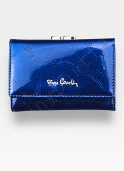 Portfel Damski Pierre Cardin Skórzany Niebieski w Liście 117
