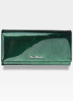 Portfel Damski Pierre Cardin Skórzany Zielony w Liście 100