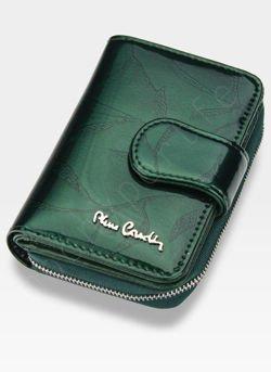 79eb00194e9d5 ... Portfel Damski Pierre Cardin Skórzany Zielony w Liście 115 Kliknij