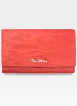 Portfel Damski Pierre Cardin Skórzany z Biglem Tilak10 455 Czerwony
