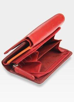 73351bd092769 Visconti Portfel Damski Skórzany RAINBOW RB39 Czerwony Multi RB39 Red Multi  RB39 Czerwony Multi
